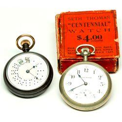 """,-,Rare """"Gambler's"""" and Fine Seth Thomas Pocket Watches"""