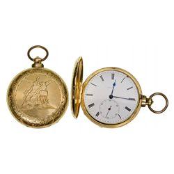 ,UK - London, England-,M.J. Tobias of London 18K Pocket Watch