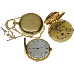 MA,Waltham-Middlesex County,18 Size, Model 1857 Movement 11 Jewel American Watch Co. Pocket Watch wi