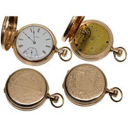 "MA,Waltham-Middlesex County,8 Size, 7J, Waltham ""Royal"" Pocket Watch in 14K Case"