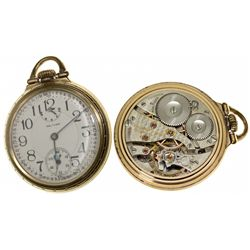 MA,Waltham-Middlesex County,16 Size, 23J Waltham Pocket Watch with Wind Indicator Feature