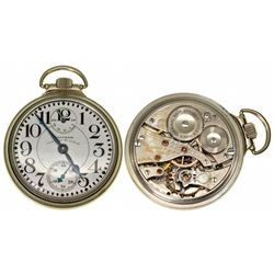 MA,Waltham-Middlesex County,16 Size Waltham Vanguard 23 J Open Face Wind Indicator Pocket Watch