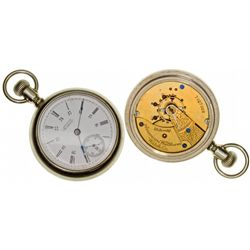 MA,Waltham-Middlesex County,18 Size 15J Waltham Pocket Watch with Unusual Dial