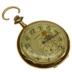MA,Waltham-Middlesex County,Waltham Colonial Series Pocket Watch in Swing Out Case