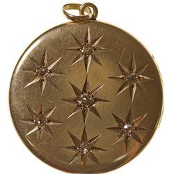 ,-,Gold and Diamond Locket