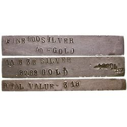 Classic 1860s-1870s Silver Ingot, 1.58 Oz Troy