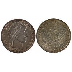 1900 AU. Barber Half Dollar