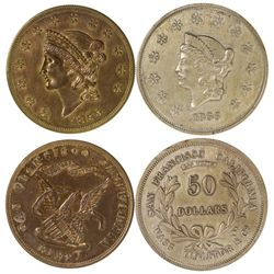 Two Pioneer Fifty Dollar Round Facsimiles