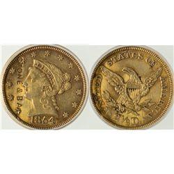 NY,Syracuse-Onondaga County,1854 Quarter Eagle Gold Coin - Counterstruck