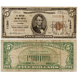 WY,Cheyenne-,$5 National Currency