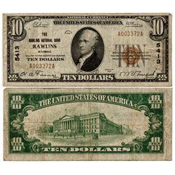 WY,Rawlins-,$10 National Currency