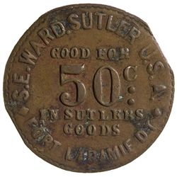 "Dakota,Fort Laramie-Goshen County,S.E. Ward Sutler Token ""Territorial"""