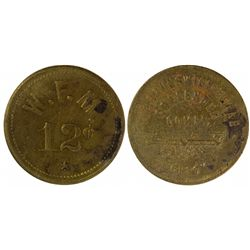NM,Fort Wingate-,W.F.M. Token