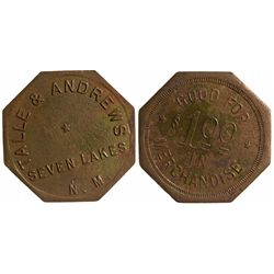 NM,Seven Lakes-McKinley County,Talle & Andrews Token
