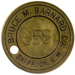 NM,Shiprock-San Juan County,Bruce M. Barnard Co. Token