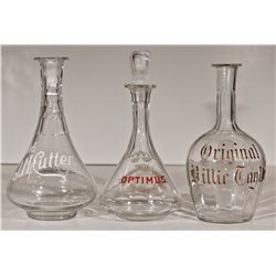 ,-,Antique Whiskey Bottle Trio