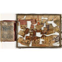 ,-,Double-Sided Hood's Sarsaparilla Rainy Day and Balloon Puzzle and Original Box