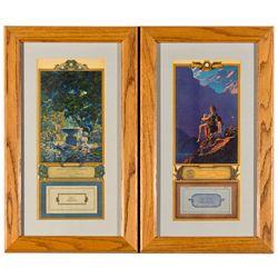 ,-,Pair of Maxfield Parrish Framed Calendars