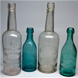 ,-,Western Soda and Whiskey Bottles