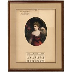 CA,-,A.W. Kenison Co. Saloon Advertising Calendar