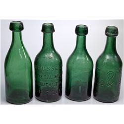 CA,-,Dark Green Gold Rush Era Soda Bottles