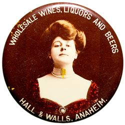 CA,Anaheim-Orange County,Hall and Walls Wholesale Wines, Liquors and Beers Mirror