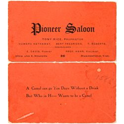 CA,Bakersfield-Kern County,Saloon Business Card