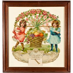CA,Fresno-,Valley Grocery Co. Framed Ad Illustration