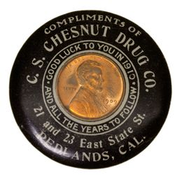 CA,Redlands-San Bernardino County,C.S. Chesnut Drug Co. Mirror
