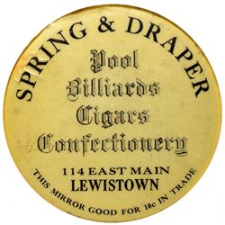 MT,Lewiston-Montmorency County,spring & Draper Mirror Token