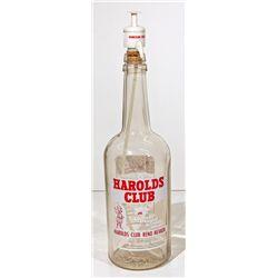 NV,Reno-Washoe County,Rare Large Harold's Club Back Bar Whiskey Seltzer with Lid
