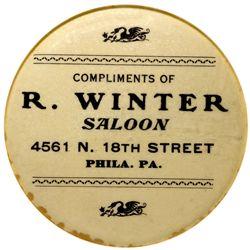 PA,Philadelphia-,R. Winter Saloon Mirror