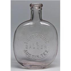 TX,Austin-,Silver King Saloon Whiskey Flask