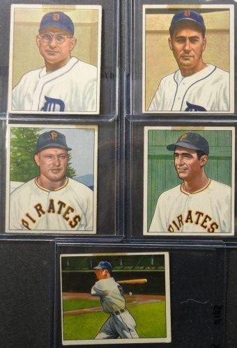 10 1950 Bowman Baseball Cards