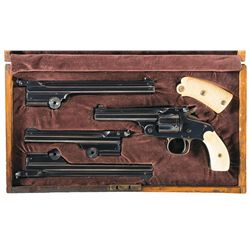 "Scarce Cased Smith & Wesson .38 Single Action 3rd Model ""Model of 1891"" Revolver with Three Single S"