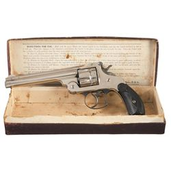 Exceptional Smith & Wesson First Model New Model Navy No 3 44 Double Action Revolver with Original B