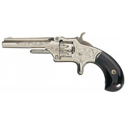 Excellent Factory Engraved Smith & Wesson Model Number 1 3rd Issue Revolver