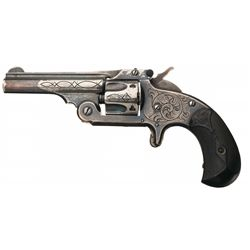 Engraved Silver Plated Smith & Wesson Model 1-1/2 .32 Centerfire Single Action Revolver