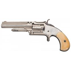 Smith & Wesson Model 1 1/2 Second Issue Revolver with Attractive Ivory Grips