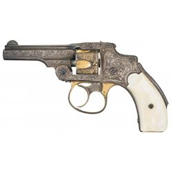 Attractive New York Engraved Gold and Silver Plated Smith & Wesson 1st Model 32 Safety Hammerless Re