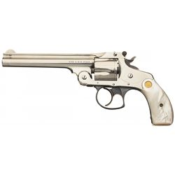 Smith & Wesson 38 Double Action 4th Model Revolver with Pearl Grips