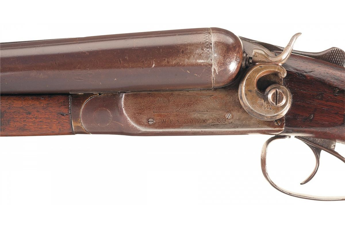 Factory Documented Wells Fargo Express Company Ithaca Double Barrel Hammer  Shotgun with Letter