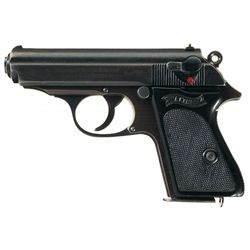 Wartime Production Walther Model PPK Semi-Automatic Pistol with Matching numbered Magazine