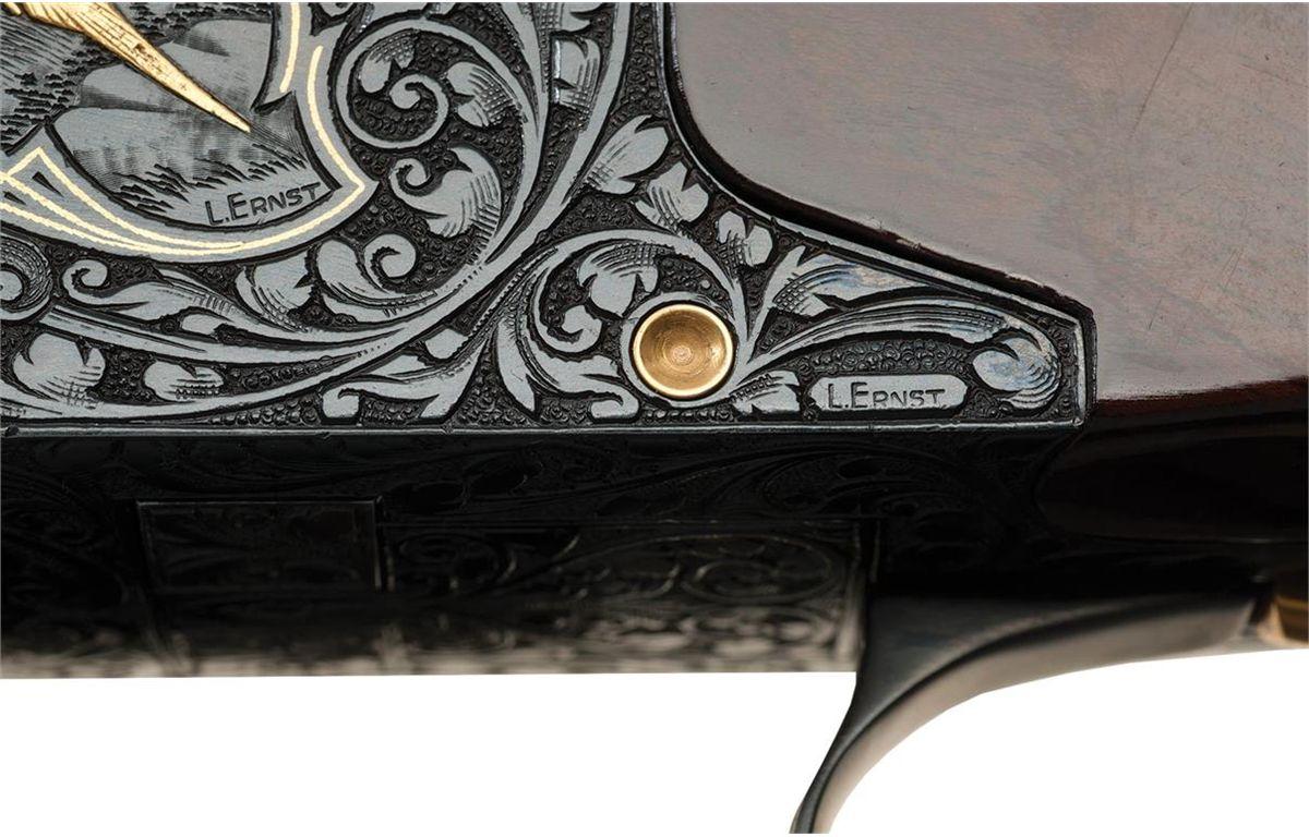 L  Ernst Engraved Signed Belgian Browning Midas Grade Superposed Four  Barrel Skeet Set Shotgun