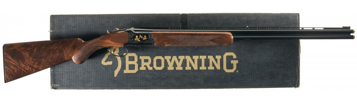 Engraved Browning Grade 6 Citori Lightning Over/Under 410 Gauge Shotgun  with Box