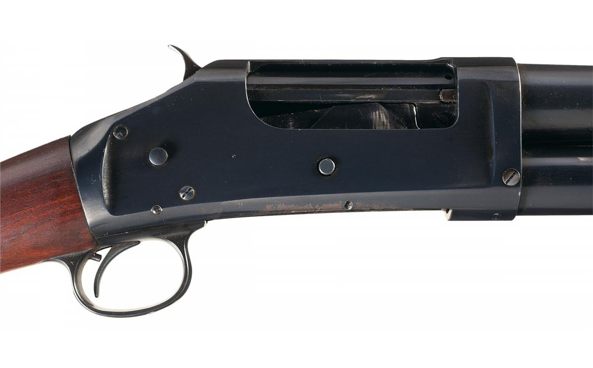 Excellent and Desirable Winchester Model 1897 Solid Frame Slide Action  Trench Shotgun