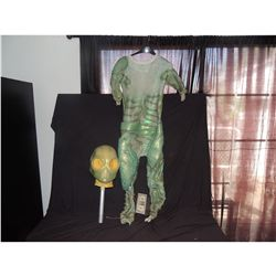 THE LAST MIMZY ALIEN CREATURE SUIT 2 WITH MASK HEAD SCREEN USED