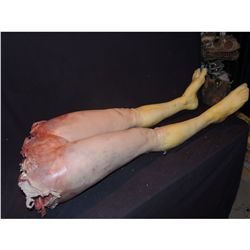 TORN IN HALF FEMALE LOWER BODY WITH LEGS & EXCELLENT GORE WITH SPINE SILICONE ANATOMICALLY CORRECT