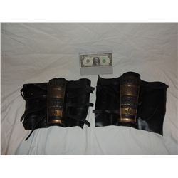 ANCIENT MONGOLIAN FIRE NATION WARRIOR SCREEN USED LEATHER GAUNTLETS 2