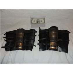 ANCIENT MONGOLIAN FIRE NATION WARRIOR SCREEN USED LEATHER GAUNTLETS 5